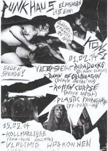 298. YACØPSÆ - Live @ Punkhaus Gärtnerstraße, Elmshorn, Germany (01.02.2014)