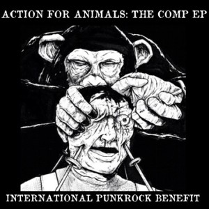 VARIOUS ARTISTS - ''Action for animals - The comp EP'' 7'' EP, normal (2013)