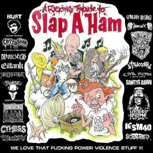 VARIOUS ARTISTS - ''A fucking tribute to Slap A Ham'' 12'' LP (Vorne)