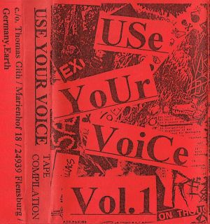 VARIOUS ARTISTS - ''Use your voice Vol. 1'' TAPE (HP-Version)