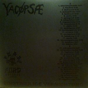 YACØPSÆ - ''Einstweilige Vernichtung (Re-press)'' 12'' LP (Black-Edition)