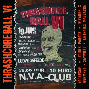 VARIOUS ARTISTS - ''Thrashcoreball VI'' 12'' LP (Front)
